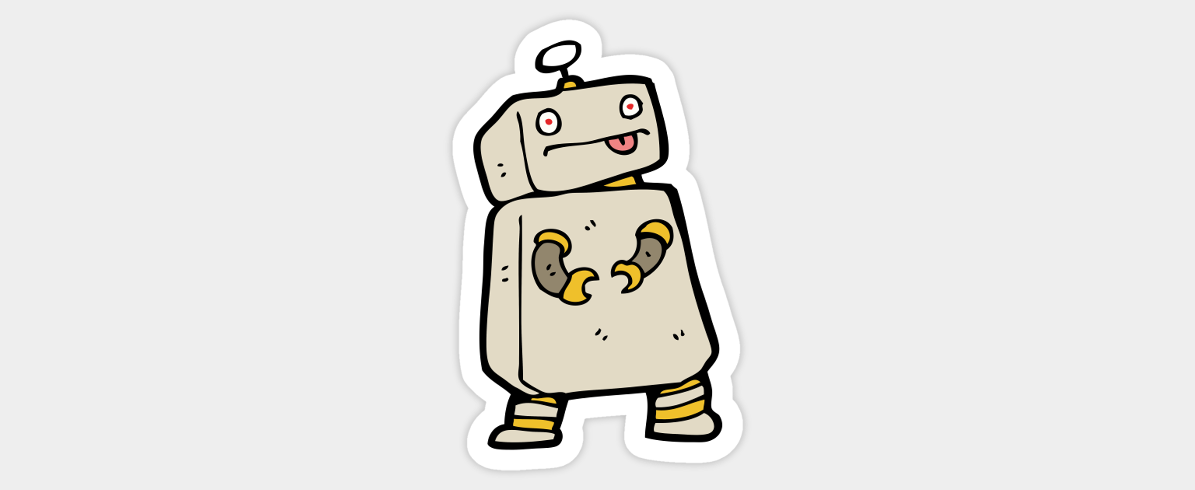 Cartoon of a confused robot