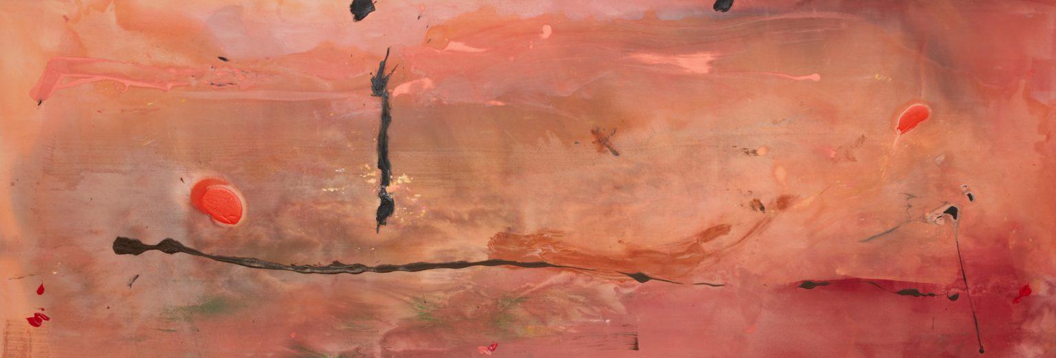Fireball painting by Helen Frankenthaler